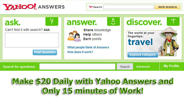 Product picture Make $20 a Day with Yahoo Answers - Resell Rights
